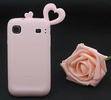 ★★ 3D HEART SHAPED LOVE RUBBER SILICONE CASE COVER ★ SAMSUNG GALAXY S I9000 T959