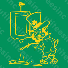 St. Patrick's Day PEEING LEPRECHAUN T-SHIRT Funny Saint Patty's Party Tee S-5XL