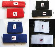 Cotton Headband 1x(Lengthen Wristbands )1x Sweatband Gym Workout Yoga the