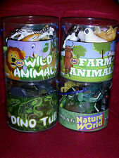 TOY FARM & WILD/ZOO ANIMALS, DINOSAURS, INSECTS/CREEPY CRAWLIES  WITH PLAYMAT