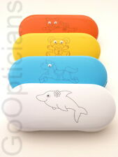 Googly Eye Glasses Case, Hard Kids Small Adult Spec Case Horse Cat Teddy Dolphin