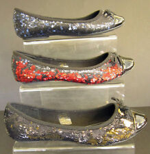 LADIES FLAT CASUAL SEQUIN SHOES (SPOT ON F8602)