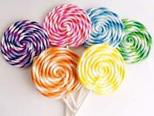 Big Carnival Candy Shoppe Sugared Polymer Clay Swirl Lollipop Fake Candy Prop