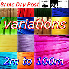 Raffia Paper Ribbon 7mm Colours decorating flowers gifts crafts 2m 5m 10m 20m 30