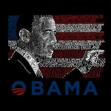 Men's T-shirt - Barack Obama - All Lyrics to America the Beautiful