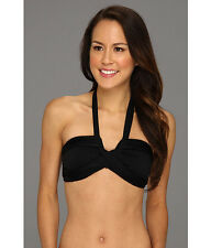 Ladies Swimwear Bandeau Top/ Bikini Bottom in Purple/Black/Pink SZ 10,12,14,16