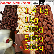 Chocolate Drops/Choffies 1kg 700g 500g for Fountains, Baking, Cooking, as Sweets