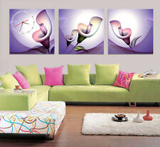 Artistic Calla Lilly Wall Decorative Canvas Print Set Of 3 high quality - Framed