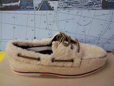 Mens Sperry Band Of Outsiders A/O Furry Outside White Boat Shoe