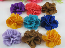 20pcs cloth imitation cloth flowers with Appliques Craft DIY Wedding U pick