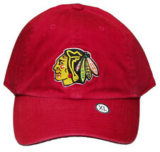 New! Chicago Blackhawks Curved Bill Fitted Embroidered Cap - NHL - Red