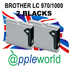 2 BLACK Ink Cartridges compatible with LC970 /LC1000 [not Brother