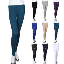Cotton Plain Solid Long Ankle Length Leggings  Skinny Pants Casual Comfort
