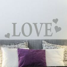 LOVE (With 3 hearts) | Wall Art Sticker Quote Word | Vinyl decal modern | WQA49