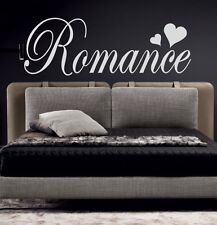 ROMANCE with hearts | Wall Word Sticker Decal Quote | Cute Love Bedroom | WW21