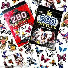 Book of Temporary Tattoos for Boys and Girls - 8 Designs - Great for Party Bags