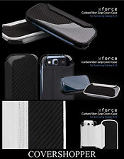 ION FACTORY X-Force Carbon Fibre Leather Grip Cover Case For Samsung Galaxy S3