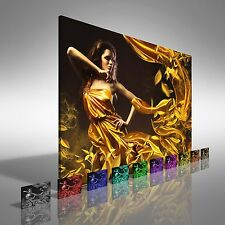 Sexy Dancing Silk Woman Canvas Print Large Picture Wall Art
