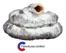 """Insulated Ducting Hydroponics Ventilation Hose Heat Recovery 4"""" 5"""" 6"""" x 10m"""