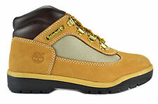 Timberland Youth Leather And Fabric Field Boot Preschool Kids Boots Wheat 15745