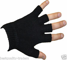 UNISEX  FINGERLESS WARM STRETCH BLACK MAGIC GLOVES