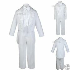 New Infant Boy &,Toddler Wedding Communion Baptism Tuxedo White Suit S-XL,2T-20