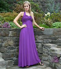 ELEGANT MATERNITY PARTY EVENING DRESS GOWN DEEP PURPLE EMPIRE STYLE