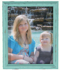 Blue & Green Shabby Chic Distressed Painted Wood Photo Picture Frame New