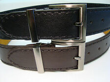 "Mens Leather Lined Belt 1.5"" Wide MILANO Gun Metal Buckle"