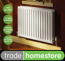 Quinn Round Top Compact Radiator 400mm High Series - Width Choice +FREE DELIVERY
