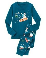 NWT Gymboree Yeti Snowboarder Gymmies Two-Piece Sleep Set Pajamas PJ NEW 6 7