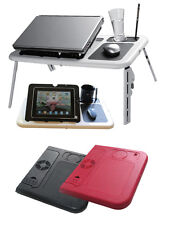Laptop Table with Built-in Cooling Fans with Mouse Pad, Cup and Pen Holder