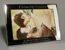 Personalised Engraved 6x4 Silver Plated Photo Frame Dad, Daddy, Fathers Day Gift