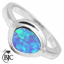 BJC® Sterling Silver 925 Australian Boulder Opal Dress Ring Size N - R Brand New