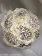 Peony rose Brooch bridal bouquet with Swarovski crystal elements 3 sizes
