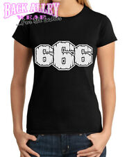 666 T-SHIRT EVIL SATAN NUMBER OF BEAST DEATH LADIES S-2XL FOR THE BAD GIRLS