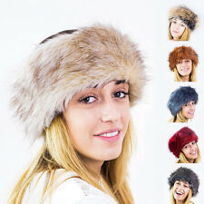 Ladies Faux Fake Fur Hat Headband Winter Earwarmer Hat Ski NEW ** FOX **