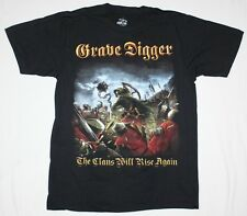 GRAVE DIGGER THE CLANS WILL RISE AGAIN'10 HEAVY SPEED METAL NEW BLACK T-SHIRT