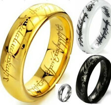 Size 7-15 LOTR Lord of Ring Wedding Tungsten Gold Black Silver Stainless Steel