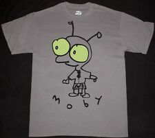 MOBY LITTLE IDIOT ALTERNATIVE DANCE BAND ELECTRO POP NEW GREY CHARCOAL T-SHIRT
