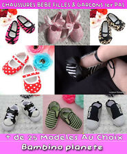 CHAUSSURE CHAUSSON BEBE BALLERINES **1ER PAS** FAUSSE FOURRURE CRIB baby SHOES