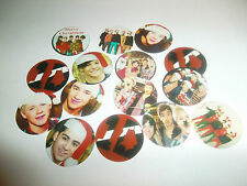 Pre Cut  CHRISTMAS SANTA ONE DIRECTION One Inch Bottle Cap Images!