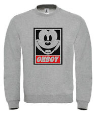 MICKEY MOUSE OHBOY SWEATER SWEATSHIRT JUMPER YMCMB DOPE OBEY FRESH OFWG GANG