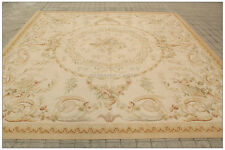 PASTEL ANTIQUE FRENCH Aubusson Area Rug FREE SHIP Country Home Decor WOOL Carpet