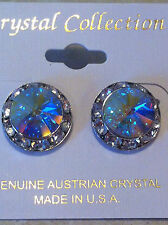 Crystal Rhinestone 5/8 in.Competition Dance Stud Pierced Earrings Many Colors
