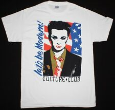 CULTURE CLUB LET'S BE MODERN BOY GEORGE NEW WAVE BOW WOW WOW NEW WHITE T-SHIRT