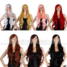 "REELVA 32"" Long Wavy Curly Fancy Dress Wigs Cosplay Costume Wigs"