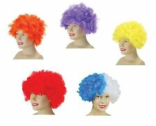 #POP WIG CURLY HAIRED AFRO CLOWNS & CIRCUS FANCY DRESS ALL COLOURS