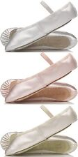 proVora IVORY Satin Bridesmaids Shoes. Childs & Adults Sizes Suitable for Ballet