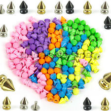 Tree Spikes Studs DIY 12mm Metal Leathercraft Rivet Screw Spots Pyramid Bullet